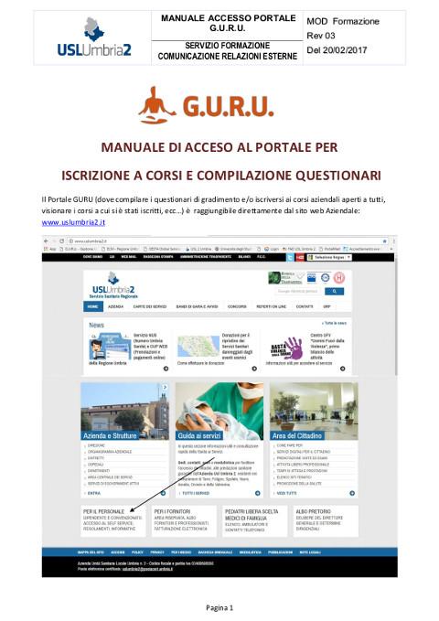 Manuale di Accesso al Portale GURU