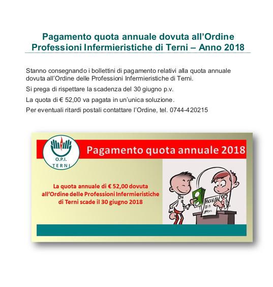 Quota annuale 2018
