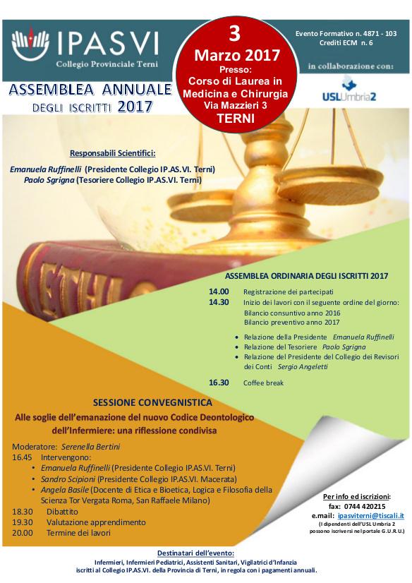 Assemblea Ordinaria degli Iscritti 2017