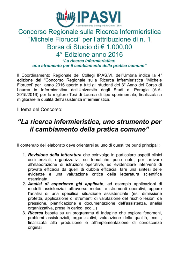 """Concorso """"Michele Fiorucci"""" 2016"""
