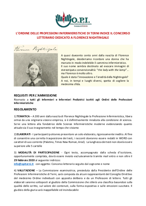 Concorso Letterario Florence Nightingale
