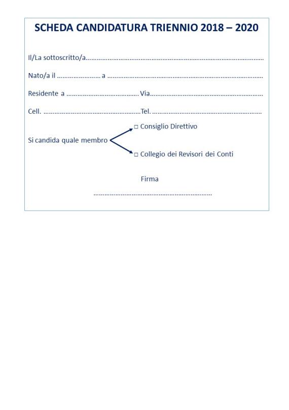 Elezioni per il rinnovo del Consiglio Direttivo e il Collegio dei Revisori dei Conti del Collegio IP.AS.VI. di Terni