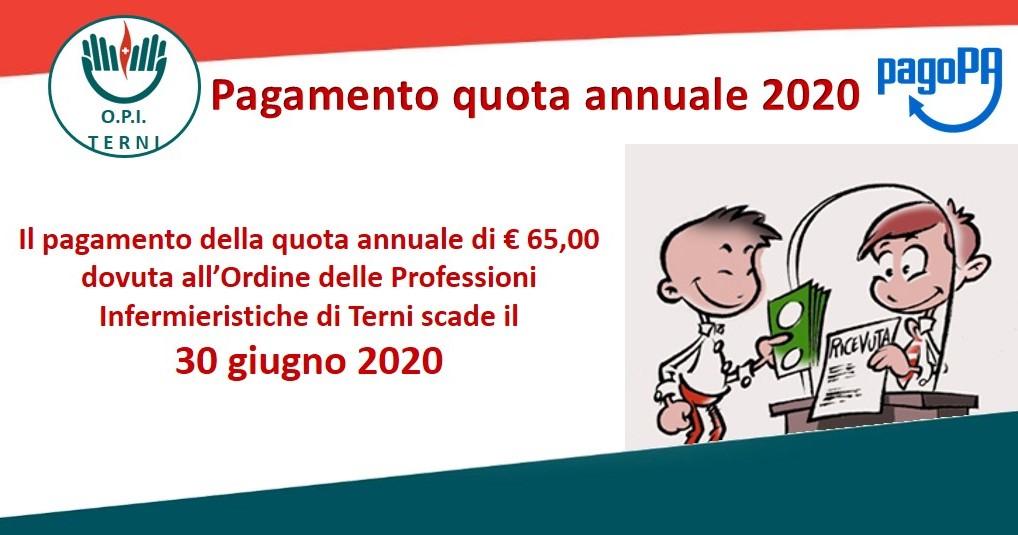 Quota annuale 2020