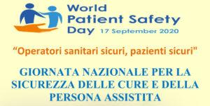 Giornata nazionale per la sicurezza delle cure e della persona assistita - Webinar gratuito